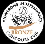 Médaille de bronze au concours 2019 des Vignerons indépendants