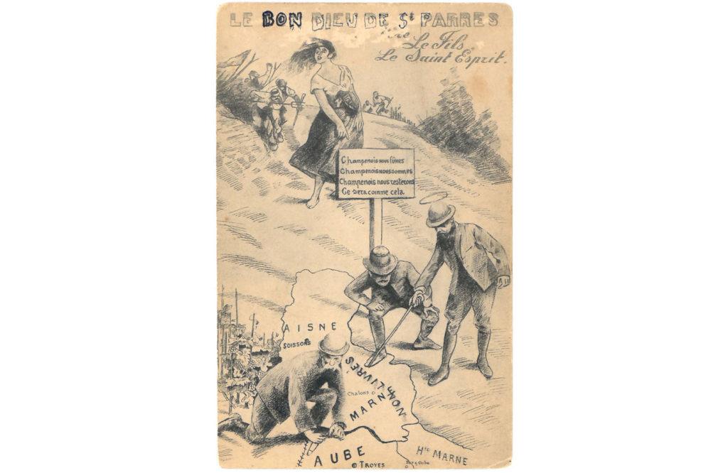 carte postale satyrique